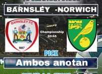 Championship:  Barnsley- Norwich