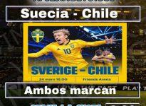 18:00 Suecia - Chile
