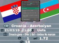Croacia - Azerbaiyán
