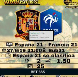España 21 – Francia 21